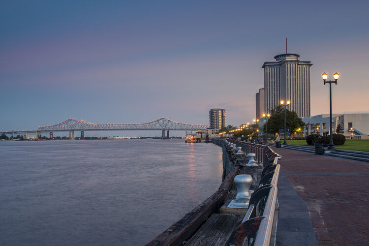 New Orleans Riverfront Getty RF