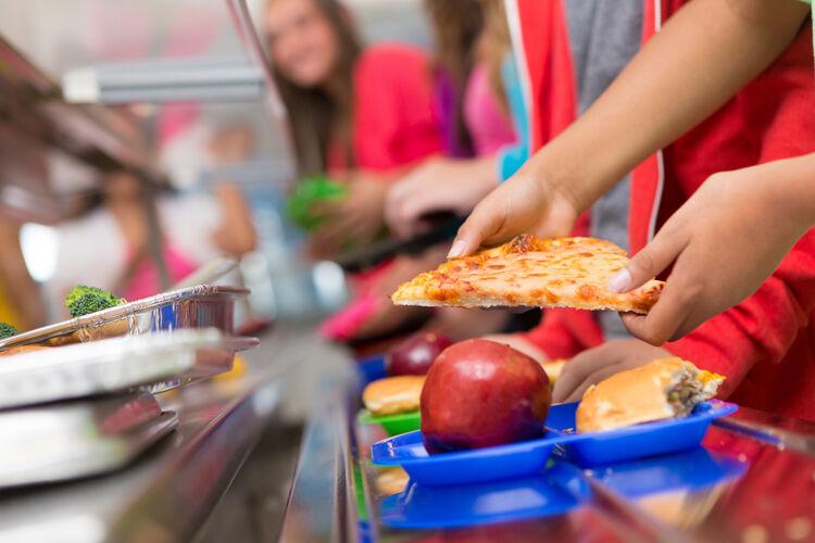 School Lunch Cafeteria Getty RF