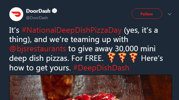 KFI on the Pulse - BJs Teaming Up With DoorDash To Get You Pizza on #NationalDeepDishPizzaDay