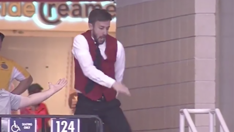 Dance Cam Turns Usher Into Viral Hit At Houston Rockets Game