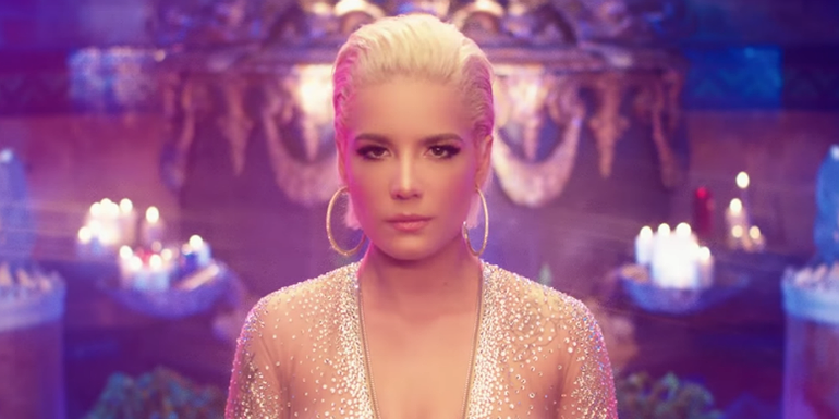 Halsey Hits A Masquerade Party With Big Sean, Stefflon Don In 'Alone' Video