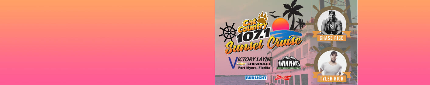 Cat Country Cruise with Chase Rice & Tyler Rich | April 26th