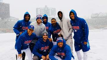 Mason, Remy and Alabama  - PICS: Cubs enjoy snow day after home opener postponed