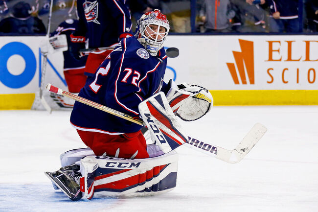 If Sergei Bobrovsky is looking behind him too often in this series it won't be good