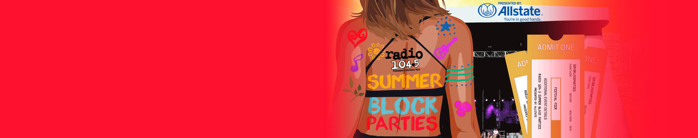 FREE ticket download for July Summer Block Party tickets is Thursday 6/28 @3pm