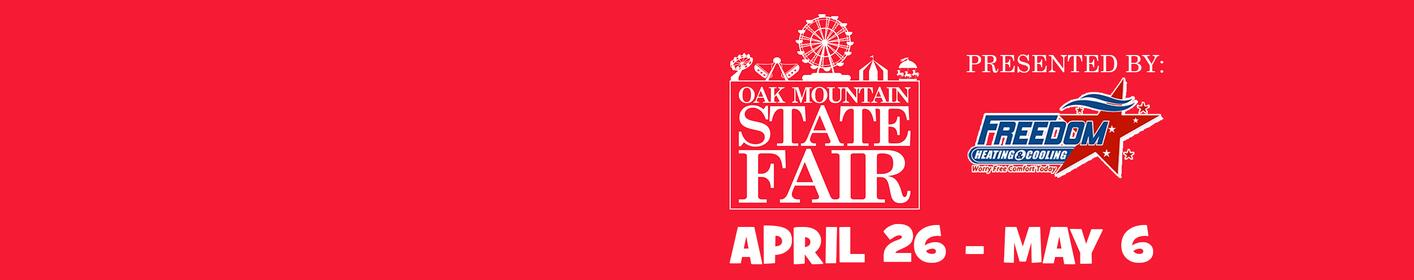 Get your tickets now for the Oak Mountain State Fair presented by Freedom Heating & Cooling!
