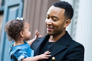 John Legend's Daughter Luna Watching Dad's Performance Is Truly Adorable