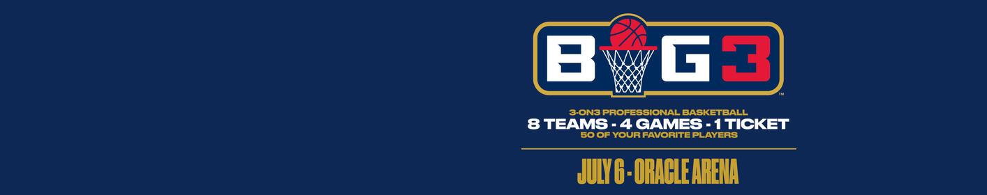 Listen to win tickets to the BIG 3 League at Oracle Arena!