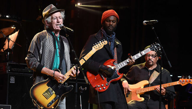 Keith Richards, Gary Clark Jr Perform at Love Rocks NYC