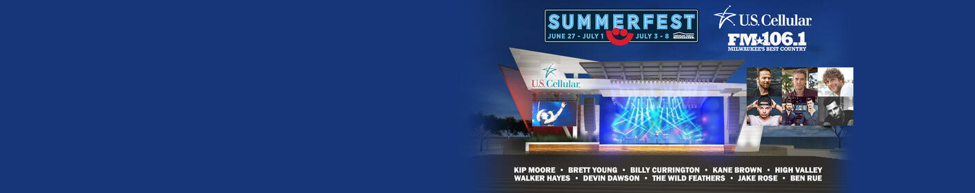 U.S. Cellular® Connection Stage with FM106.1: Kip Moore, Brett Young, Billy Currington & more!