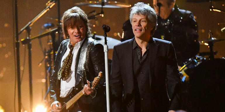 Jon Bon Jovi and Richie Sambora Reunite at Rock And Roll Hall Of Fame