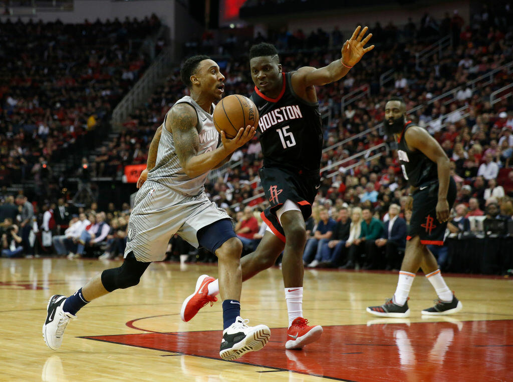 0ccb263ac0d3 Houston Rockets Hold Off Minnesota Timberwolves In Game One