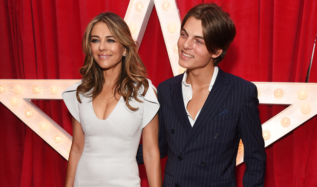 Elizabeth Hurley Takes Sexy Pics... With Her Son