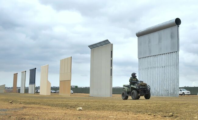 Border Wall Prototypes - Getty Images