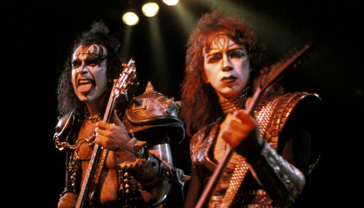 Gene Simmons and Vinnie Vincent
