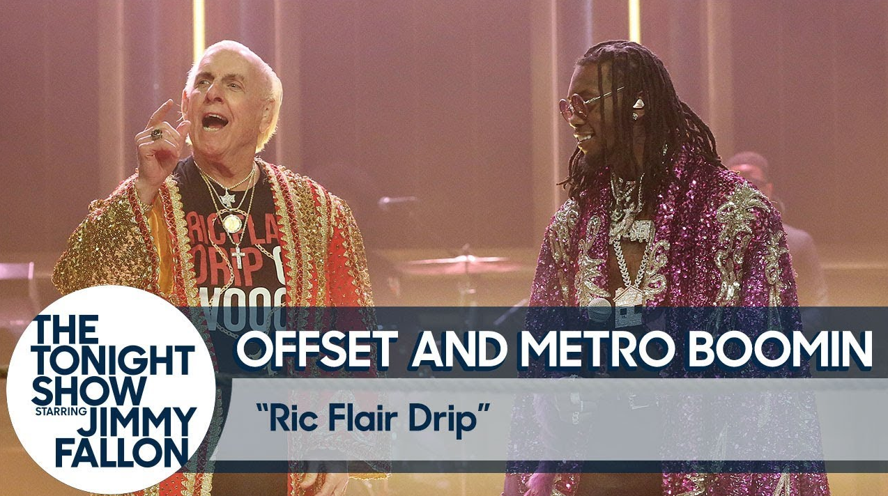 Offset Recruits Wrestling Legend Ric Flair For 'Fallon' Performance