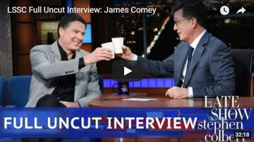 Trey - James Comey On Stephen Colbert