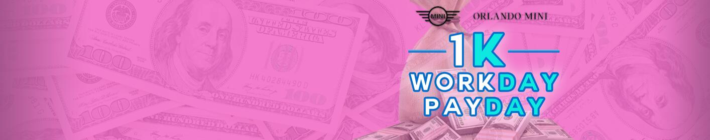 1k Workday Payday! Listen from 6:10A-9:10P for your chance to win $1,000 every hour!