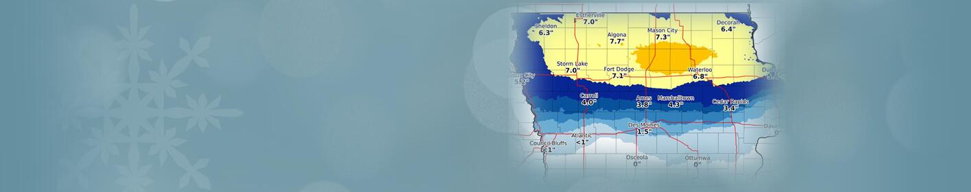 Des Moines snow prediction less than expected MAPS
