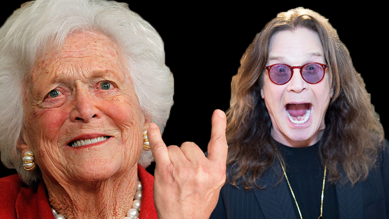 Barbara Bush Loved Ozzy Osbourne