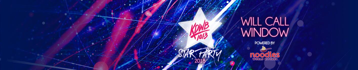 Enter the KDWB Star Party Will Call Window to win tickets! Powered by Noodles & Company