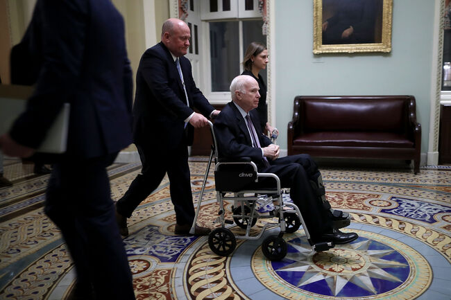 Sen John McCain wheel chair