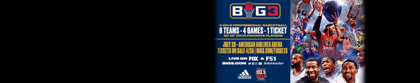 Win ticket to the BIG3 3x3 Professional Basketball Tournament