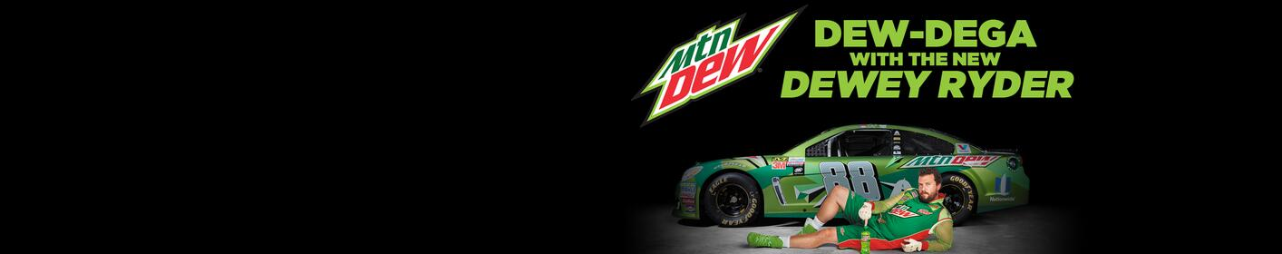 Want to be a part of the NEW Dewey Ryder Mountain Dew team at Talladega? Enter to win!