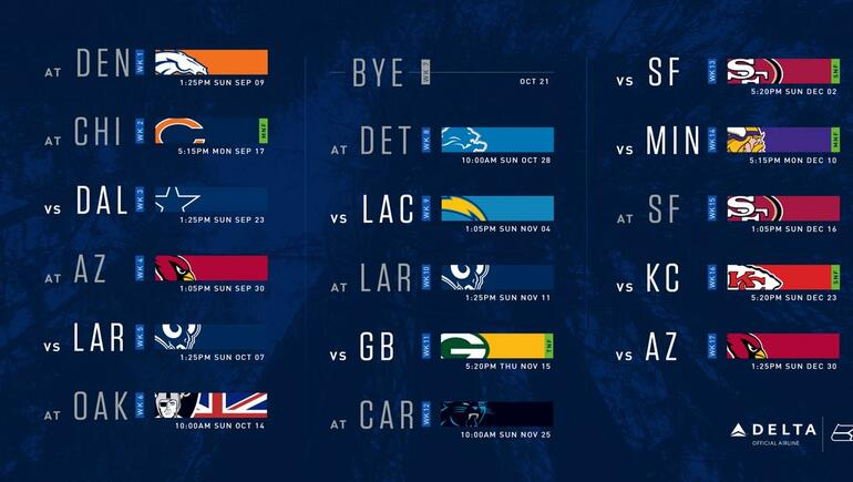The 2018 Seahawks Schedule