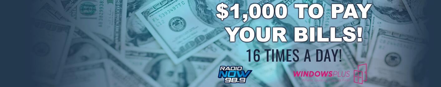 LISTEN To Win $1,000… 16 TIMES EVERY WEEKDAY