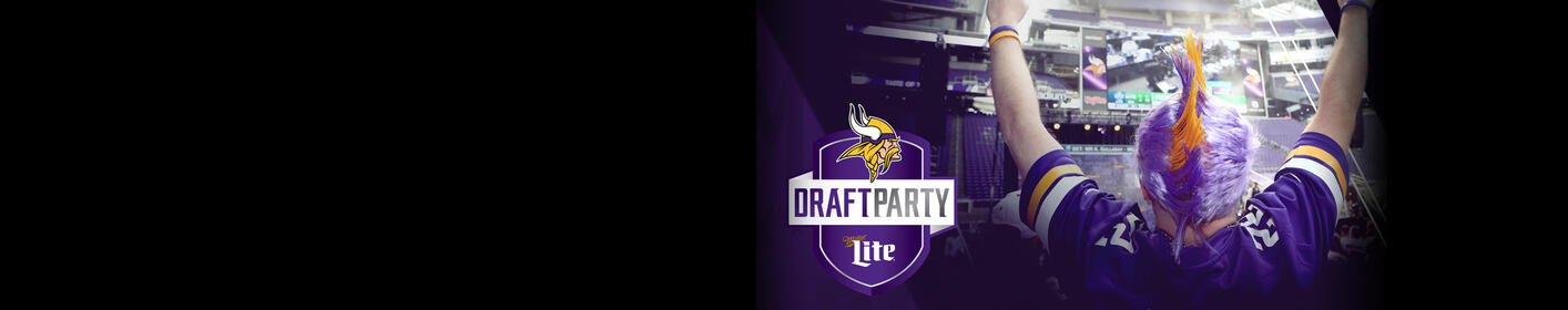 Join fellow fans at the 2018 Miller Lite Vikings Draft Party