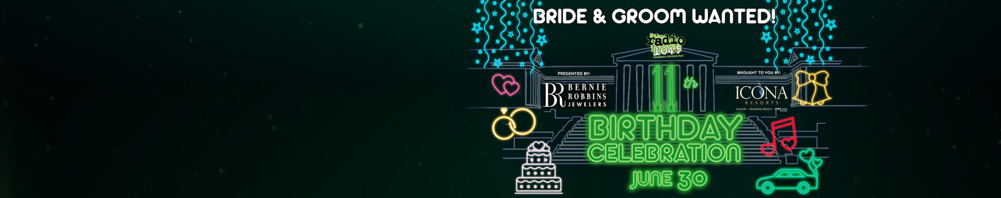 Bride & Groom wanted: It's time for another wedding at The Birthday Show