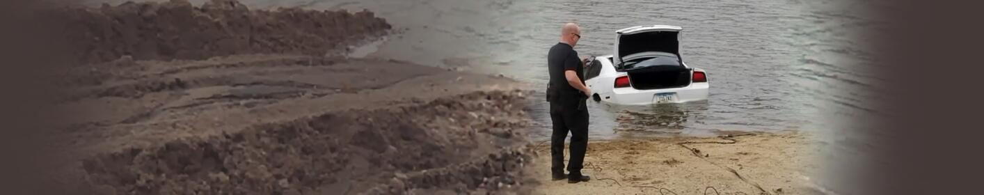Mysterious tracks lead detectives into Iowa lake