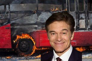 Dr. Oz First On The Scene At Scary Highway Bus Fire, Posts Video