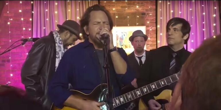 "Watch Eddie Vedder Jam ""All Along the Watchtower"" With Tangiers Blues Band"