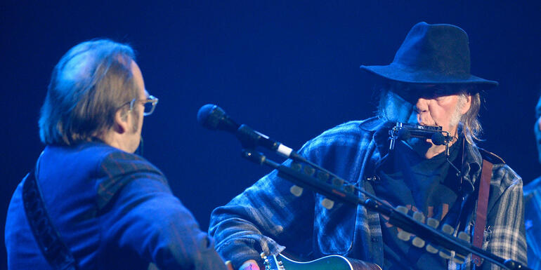 "Watch Neil Young, Stephen Stills Perform ""For What It's Worth"" Together"