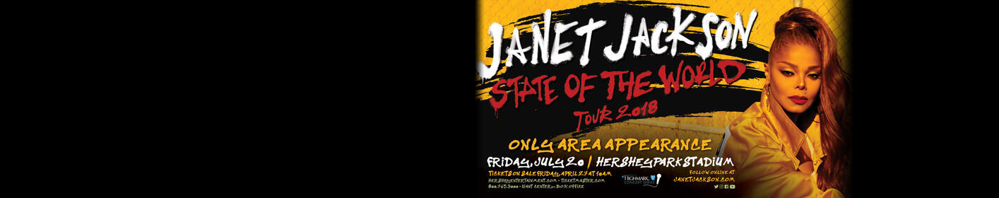 WIN TICKETS! Janet Jackson 'State of The World Tour' playing at HersheyPark Stadium!