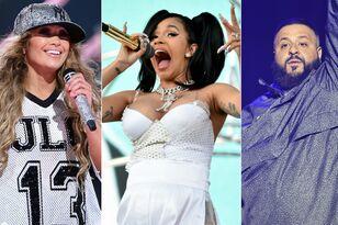 Jennifer Lopez, Cardi B & DJ Khaled Shoot 'Dinero' Music Video