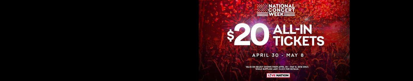 Score $20 Concert Tickets During National Concert Week!