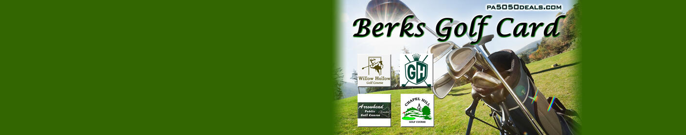 1/2 Price Golfing! Get Your 'Berks Golf Card 2018' at 50/50 Deals!