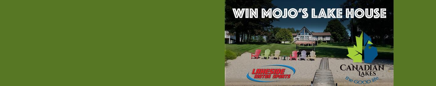 Listen to Mojo in the Morning at 8:30a to win a trip to Mojo's Lake House