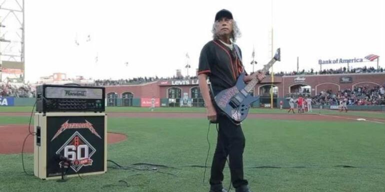 "Watch Kirk Hammett Perform National Anthem at SF Giants' ""Metallica Night"""