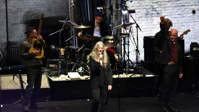 Watch Patti Smith Perform With Michael Stipe, Bruce Springsteen