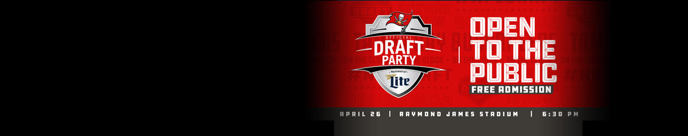 THURSDAY: Join Us at the Bucs Draft Party!
