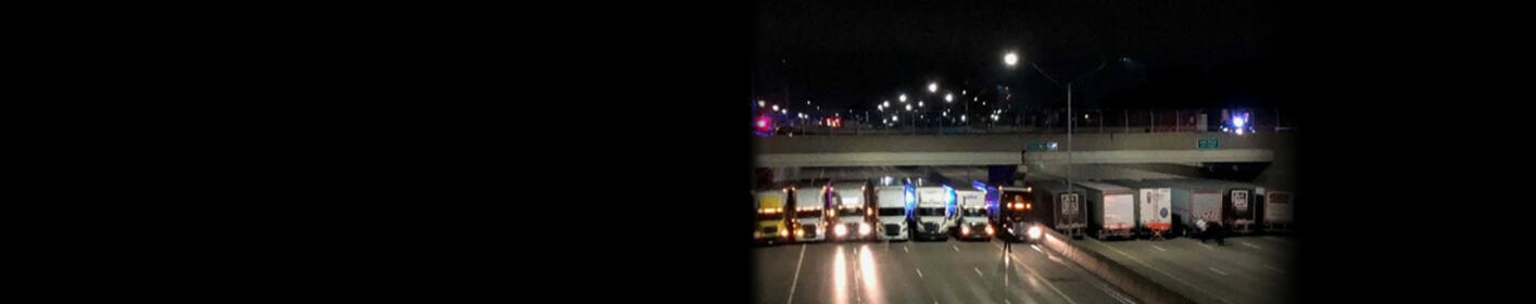 Thirteen Trucks Park Under Overpass To Save Suicidal Man