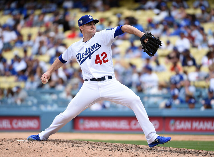 Dodgers pitcher Ross Strippling