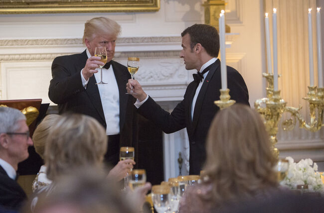 Trump Macron State Dinner - Getty Images