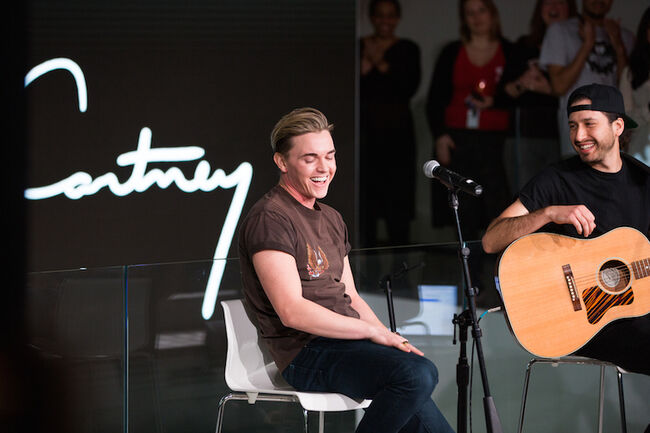 Jesse McCartney performs live on the Honda Stage.