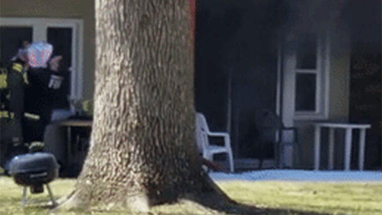 Firefighter Catches Infant Tossed From Balcony Of Burning Building