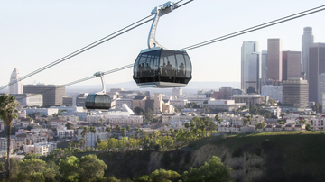 Local News - Aerial Tram Proposed to Ferry Fans From Union Station to Dodger Stadium